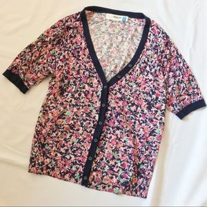 Anthropologie Floral Sparrow Cardigan Sweater XL